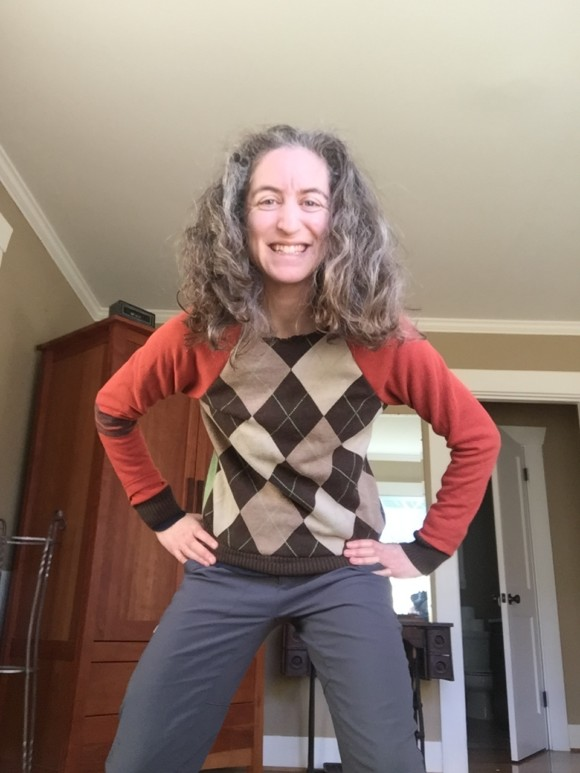 Argyle vest refashion