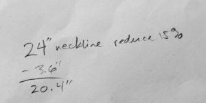 Neck line math