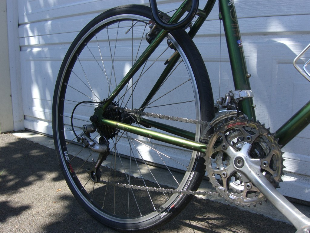 Rear Wheel with New Chain and Cassette