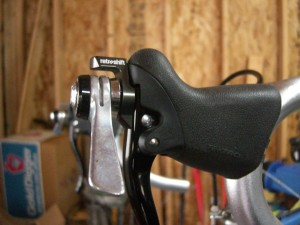 Retroshift levers with Shimano 8-speed downtube shifters