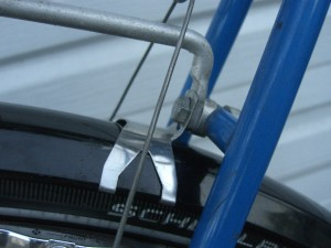 SKS fenders under the rear rack