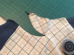 Neckline curve adjustment